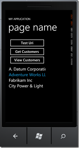 phone1 thumb Windows Phone 7 Line of Business App Dev :: Working with an In Memory Database