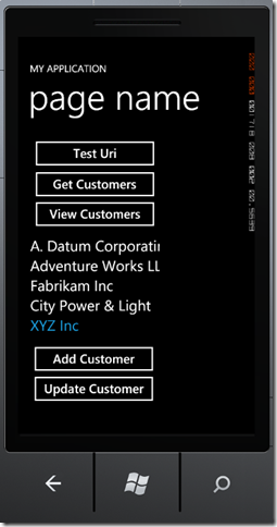 phone3 thumb Windows Phone 7 Line of Business App Dev :: Working with an In Memory Database